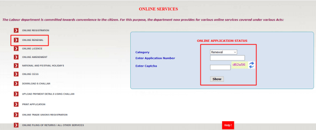 online labour registration renewal kerala