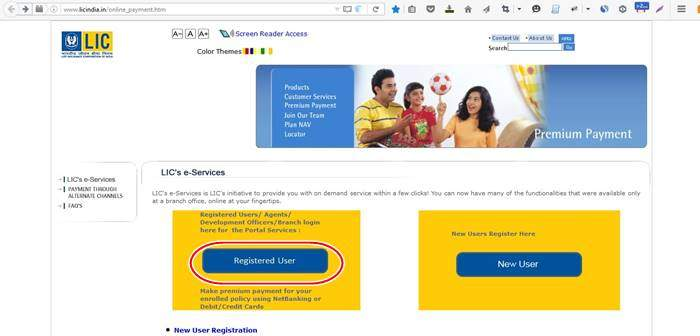 Login LIC Portal to pay the premium online