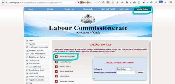 How to Register Labour Department