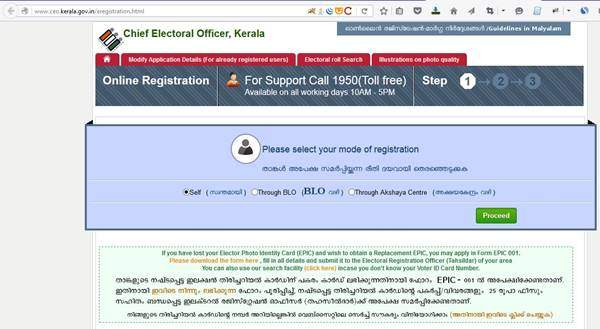 How to Apply Voter ID Card Online Kerala