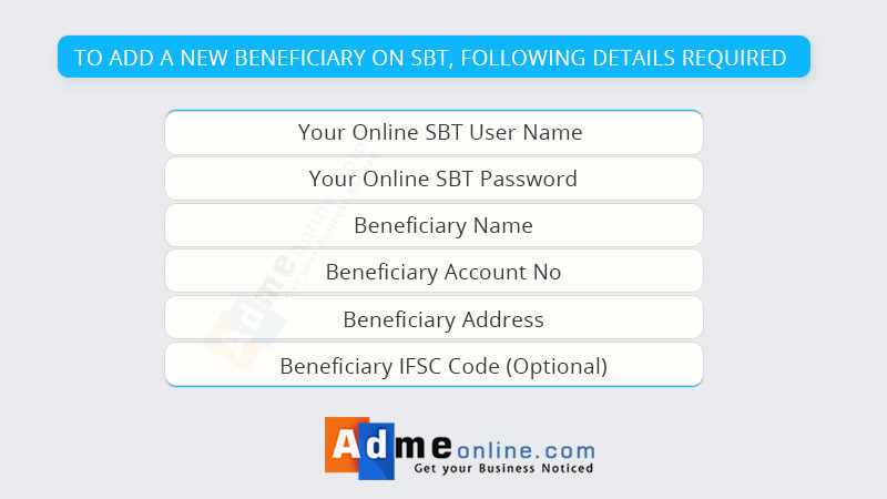 How to add a beneficiary Online SBT