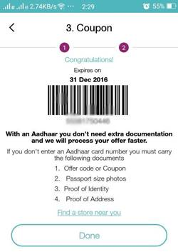 JIO sim documents required