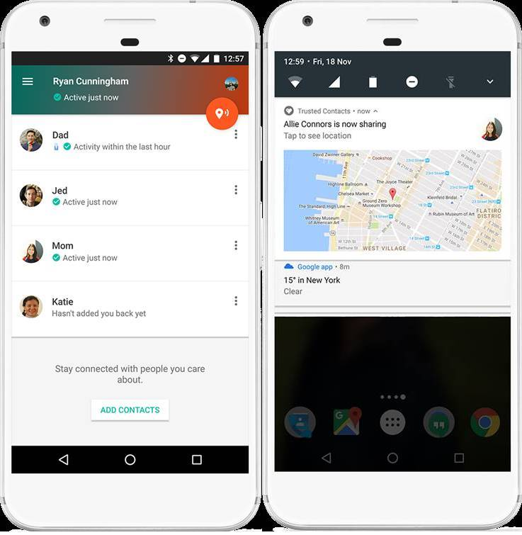 Google's New Trusted Contacts Android App