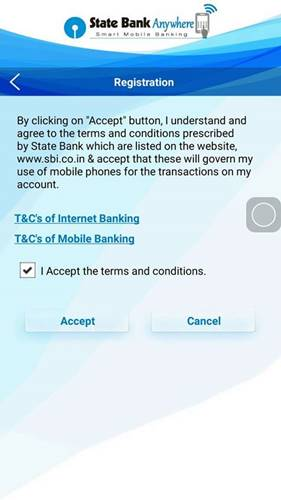 Accept Terms-Statebank Anywhere APP
