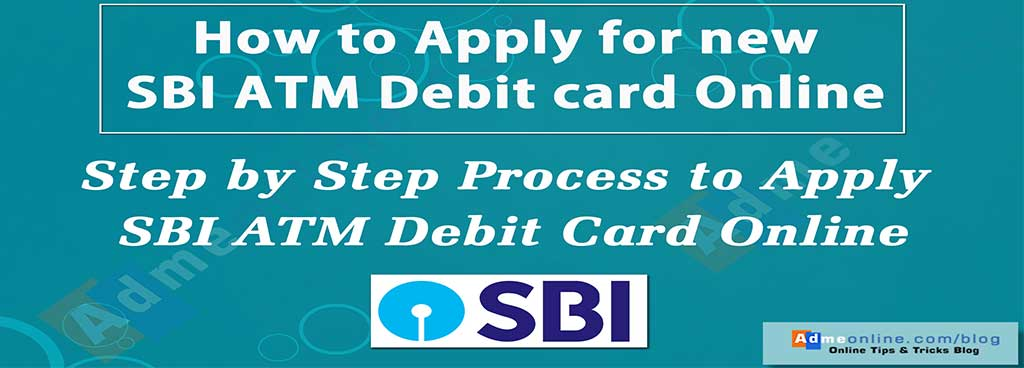 online atm application form sbi