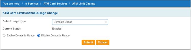 How to activate ECOM in SBI Debit card through net banking