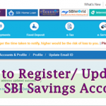 How to Register/Update Email id in SBI Savings Account Online