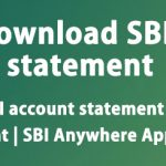 How to get SBI account statement | SBI e-statement | SBI Anywhere App
