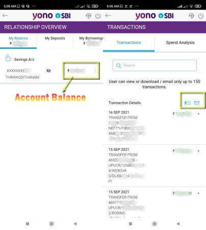 how to download statement from sbi yono app