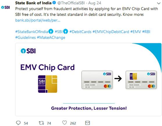 SBI: Switch to EMV chip debit cards