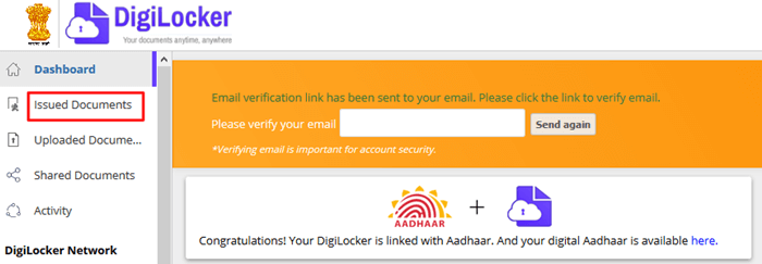 Digilocker-Issued documents
