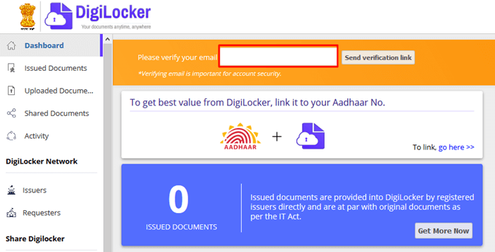Digilocker Email Verification