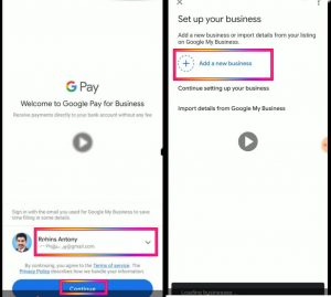 Google My Business Account Selection
