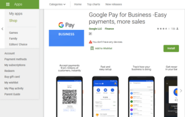 download goole pay for business app from play-store
