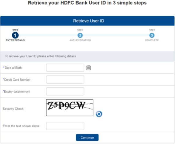 how to get hdfc credit card customer id