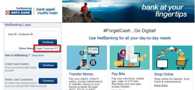 hdfc bank net banking net login
