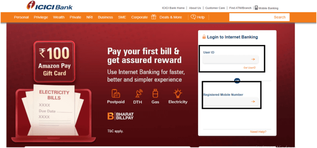 check balance in icici account