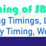 SBI bank Opening Timings | Lunch time of SBI | Timings of State Bank of India