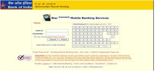 star connect - Bank Of India