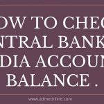 Central Bank of India Balance check Number, Online, SMS, Missed Call Number